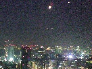 東京タワーからレインボーブリッジ方面を望む